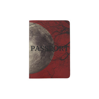 Spooky Moon Halloween Prints Passport Holder