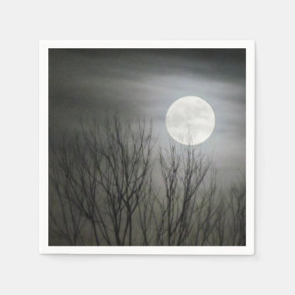 Spooky Moon Napkins Disposable Napkins
