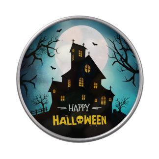 Spooky Moonlight Haunted House Happy Halloween