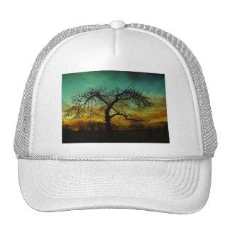 Spooky Nature Tree Autumn Destiny Celebration Mesh Hat