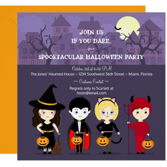 Spooky Night Halloween Party Card