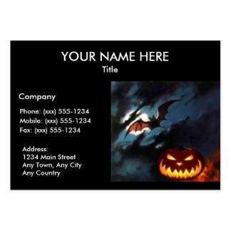 SPOOKY NIGHT Halloween pumpkin design ~ Pack Of Chubby Business Cards