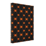 Spooky Orange Spiders Stretched Canvas Prints