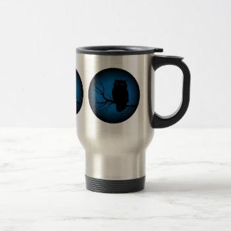 Spooky Owl Blue Moon Travel Mug
