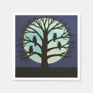 Spooky Owl Tree Napkins Disposable Napkin
