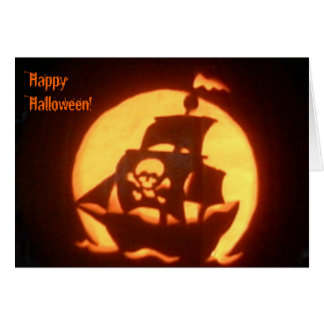 Spooky Pirate Ship Card