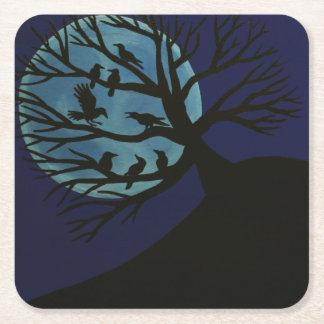 Spooky Raven Coasters