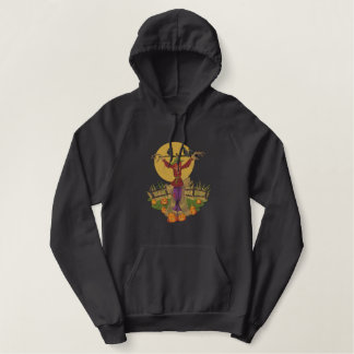 Spooky Scarecrow Embroidered Hoodie