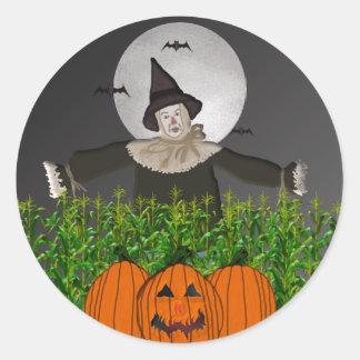 Spooky Scarecrow Halloween Stickers