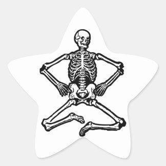 Spooky Skeleton Star Stickers