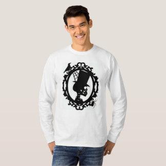 Spooky Skull In Frame Men's Long Sleeve T T-Shirt