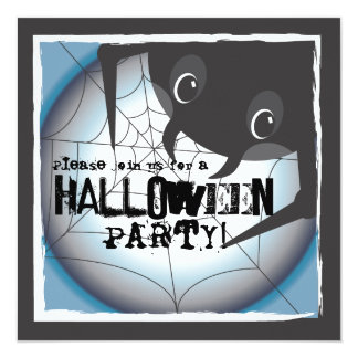 Spooky Spider Full Moon Halloween Party Invitation