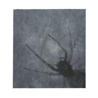 Spooky Spider Halloween Prints Notepad