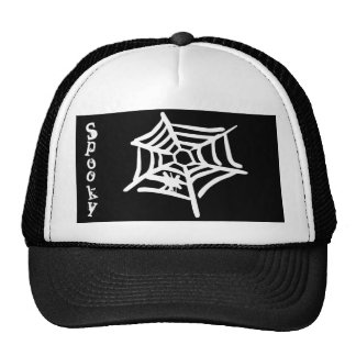 """Spooky"" Spider Web Halloween Hat"