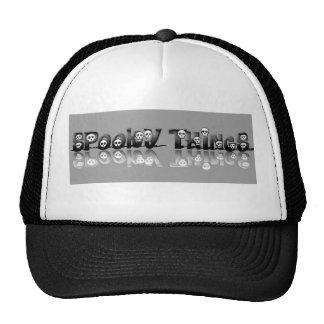 Spooky Things grey skulls hat