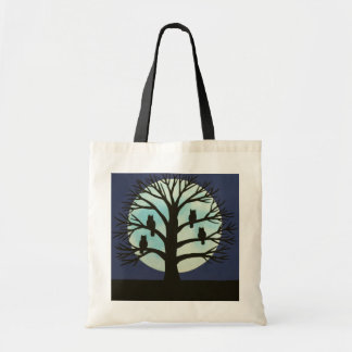 Spooky Tree and Owl Budget Tote Bag