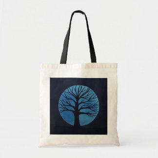 Spooky Tree (Blue) Budget Tote