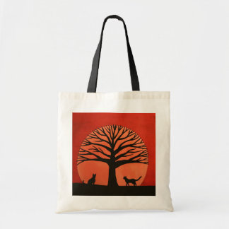 Spooky Tree & Cat Budget Tote