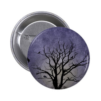 Spooky Tree Halloween Prints 2 Inch Round Button