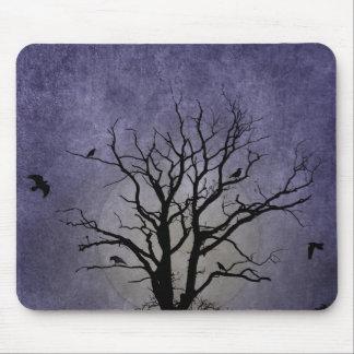 Spooky Tree Halloween Prints Mouse Pad
