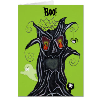 Spooky Tree With Friends Note Card