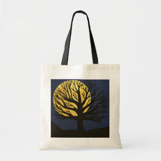 Spooky Tree (Yellow) Tote