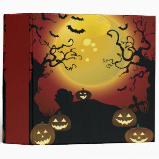 spooky trees Halloween notebook Vinyl Binder