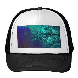 Spooky Trees in Greens & Blues Trucker Hat