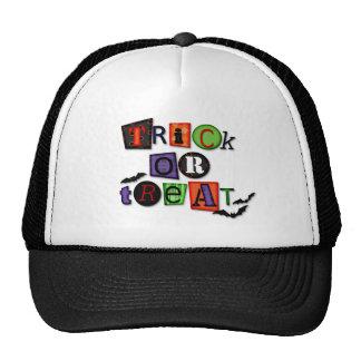 Spooky Trick or Treat words Trucker Hat