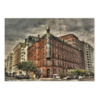 Spooky Urban Building in Downtown Washington DC Photo Print
