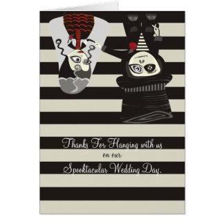Spooky Wedding Thanks Card