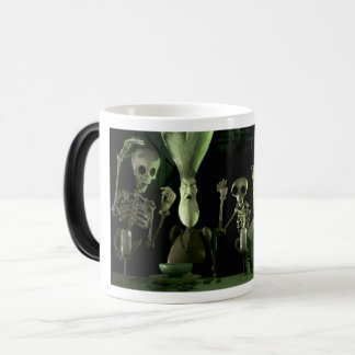 Spooky Witch and Skeleton Morphing Mug