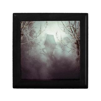 Spooky Witch House in Mist Keepsake Box
