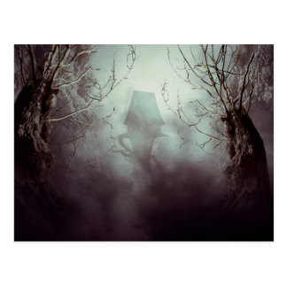 Spooky Witch House in Mist Postcard