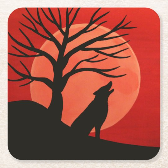 Spooky Wolf Coasters