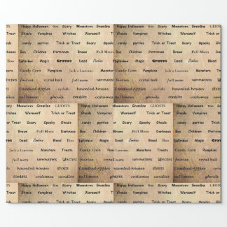 Spooky Words Halloween Gift Wrap