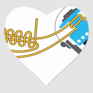 Spool uni knot for spinning reel vector diagram heart sticker