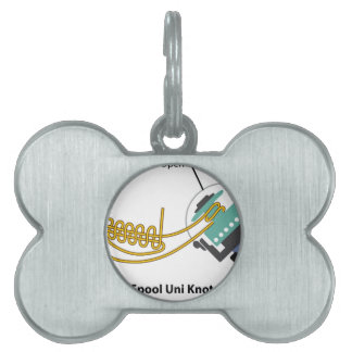 Spool uni knot for spinning reel vector diagram pet name tag