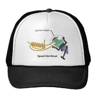 Spool uni knot for spinning reel vector diagram trucker hat