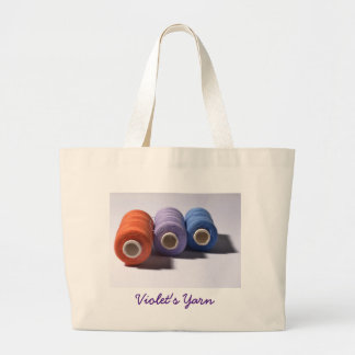 Spools of Thread Personalized Jumbo Tote Bag