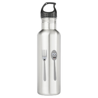 Spoon and Fork Kawaii Zqdn9 710 Ml Water Bottle