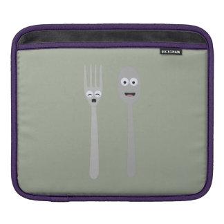 Spoon and Fork Kawaii Zqdn9 iPad Sleeve