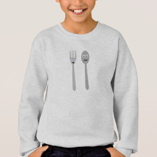 Spoon and Fork Kawaii Zqdn9 Sweatshirt