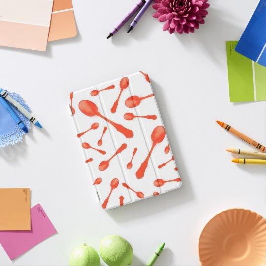 Spoon Pattern orange Ipad case cover iPad Mini Cover