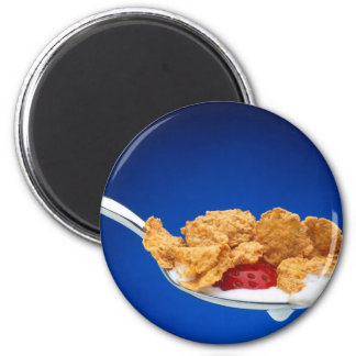 Spoonful of Cereal 2 Inch Round Magnet