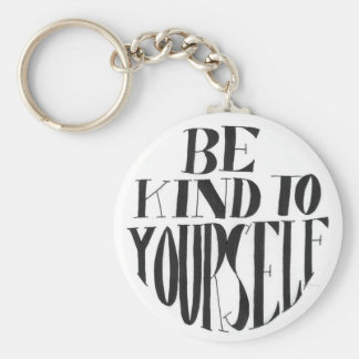 Spoonie-Be Kind to Yourself keyring-ChronicIllness Basic Round Button Keychain