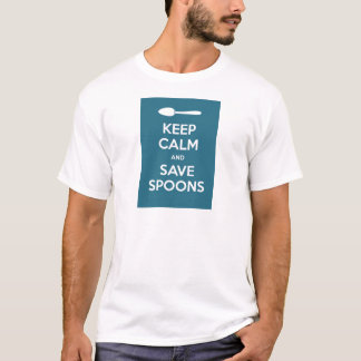 Spoonie-Keep Calm and Save Spoons-Chronic Illness T-Shirt