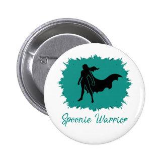 Spoonie Warrior (clear) Button