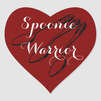 Spoonie Warrior Heart Stickers