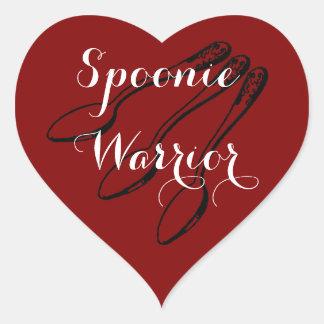 Spoonie Warrior Heart Stickers